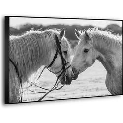 YS-Art Leinwandbild Pferde-Paar