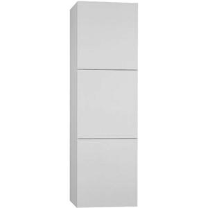 Badschrank 3 Türen Badezimmerschrank Hochschrank Badmöbel Schrank 100x30cm weiß