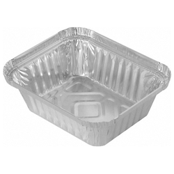Alu-Servierschale Aluschale Grillschale  470ml, 145x120x41mm, 100 Stk.