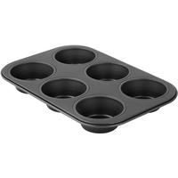 Zenker 6534 6er Muffinform Ø 7 cm , black metallic