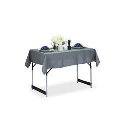 relaxdays Tischdecke Tischdecke wasserabweisend in 3 Farben grau 110 cm x 140 cm x 1 mm