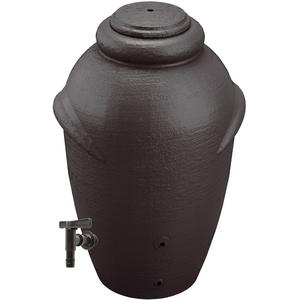 Regentonne AMPHORE 360 Liter MIT Hahn Anthrazit Regenfass Regentank Wassertonne