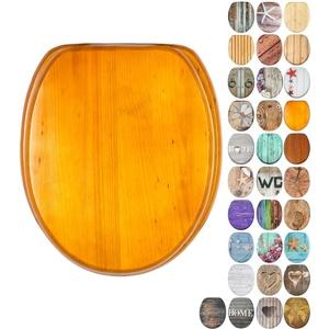 WC Sitz mit Absenkautomatik, viele schöne Holz WC Sitze zur Auswahl, hochwertige und stabile Qualität (Holz)