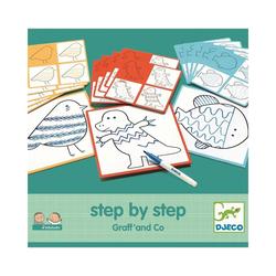 "DJECO Malvorlage Lernspiele- ""Step By Step"" Graff' and Co"