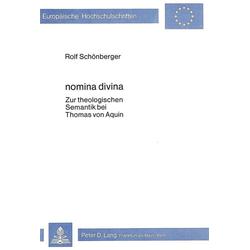 Nomina divina als Buch von Rolf Schönberger