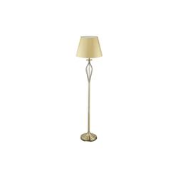 relaxdays Stehlampe Schirmlampe Antik goldfarben 39 cm x 39 cm x 158 cm