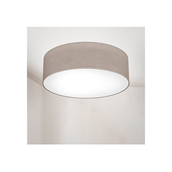 B.K.Licht Deckenleuchte, LED Deckenlampe Stoff Textil Lampenschirm Wohnzimmerlampe Schlafzimmer E27