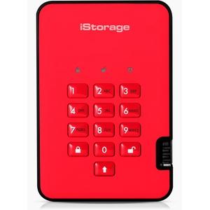 iStorage diskAshur2 HDD 500 GB Schwarz -  Sichere portable externe Festplatte - Passwortschutz, staub- und wasserbeständig, kompakt - Hardware-Verschlüsselung. USB 3.1 IS-DA2-256-500-R