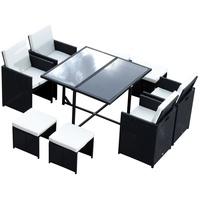 Outsunny Polyrattan Set 21-tlg. Tisch 109 x 109 cm