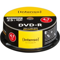 Intenso DVD-R 4.7GB 16x 25er Spindel printable