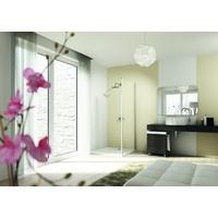 Hüppe Design elegance Seitenwand alleinstehend silber matt Klarglas mit Anti-Plaque / 900mm / 2000mm mit Querbügel - 8E1106087322