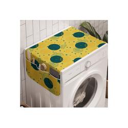 Abakuhaus Badorganizer Anti-Rutsch-Stoffabdeckung für Waschmaschine und Trockner, Retro Zitronenscheiben und Punkt-Muster