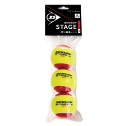 Tennisbälle - Dunlop Mini Tennis - Stage 3 - 3 Stck. - rot - 2019