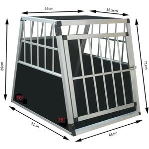 Hundetransportbox Alu Hundebox Transportbox Autotransportbox Reisebox Alubox Neu