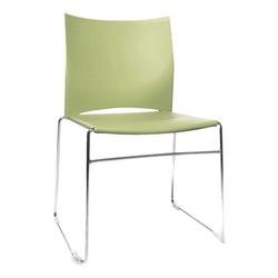 4er-Set Stapelstühle »W-Chair« grün, Topstar, 45x45 cm