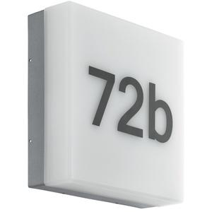 EGLO CORNALE  Wand-/Deckenbeleuchtung für den Außenbereich  Anthrazit  Kunststoff  IP44  II  Weiß