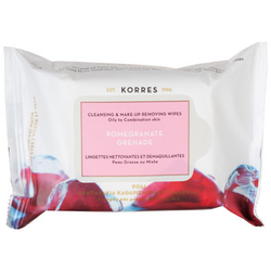Korres Pomegranate Cleasing Wipes 25 St., MHD. 08/2020
