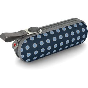 Knirps Taschenschirm X1 Dots – Der kleinste Regenschirm von Knirps – Leicht und sturmfest – Navy Dot