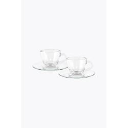 Bialetti 2er Set Espressotasse mit Untertasse