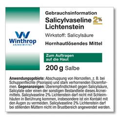 SALICYLSÄUREVASELINE Lichtenstein 2% 200 g