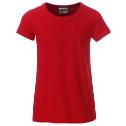 T-Shirt für Mädchen | James & Nicholson red 122/128 (M)