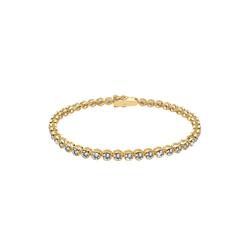 ELLI Damen Armband Tennisarmband gold, Größe 19, 4522203