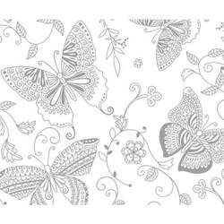 Zauberpapier 250g/qm 48x67cm Schmetterlinge