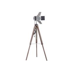 HOMCOM Stehlampe Tripod-Stehlampe in Scheinwerfer-Form