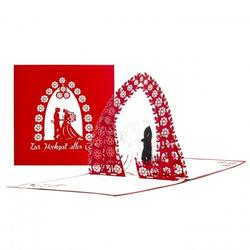 Colognecards Pop-Up Karte Brautpaar