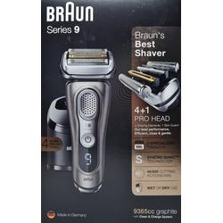 Braun Gesichtshaarentferner Braun Elektrorasierer 9365cc Series 9 mit Reinigun