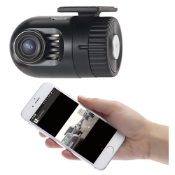 Mini-HD-Dashcam MDV-1600.av mit G-Sensor, WLAN und Smartphone-App