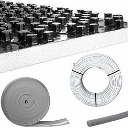 93 m² Fußbodenheizung-Set - Noppensystem - 30 mm Wärme-Trittschall-Dämmung
