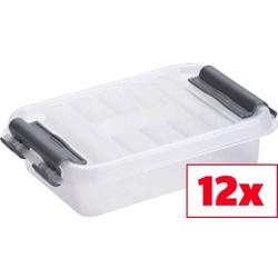 Helit Aufbewahrungsbox Q-line Transparent 0.2l (B x H x T) 77 x 30 x 118mm 12St.