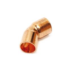 Kupfer Lötfitting Bogen 45° (i/a) 35 mm