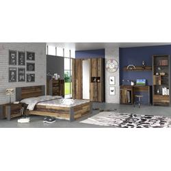 Jugendzimmer Clif   4 teiliges Set in Old Wood Vintage von forte