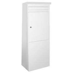 SafePost Briefkasten SafePost Eurotrend No.1 großer Standbriefkasten weiss 100 x 35,5 cm Briefkasten freistehend