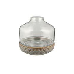 Basispreis* Vase mit Steinboden ¦ grau ¦ Steingut, Glas Ø: [22.5]