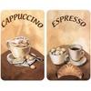 WENKO Herd-Abdeckplatte Kaffee, Glas, (Set, 2 tlg), kratzfest