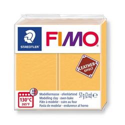 FIMO Modelliermasse Fimo Leder-Effect, 57 g gelb