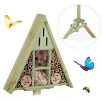 Relaxdays Insektenhotel Insektenhotel Dreieck auf Ständer