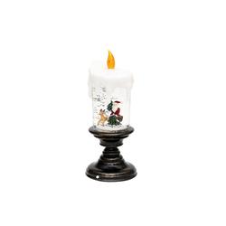 SIGRO LED-Kerze LED Kerze auf Fuß mit Santa
