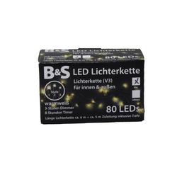 Lichterkette 80 LED mit 8 Stunden Timerfunktion 3 Stufen Dimmer