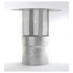 acerto® Schornstein-Regenhaube Schornsteinabdeckung 120mm mit Funkenschutz Kamindeckel Kaminabdeckung