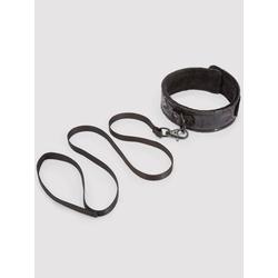 Black Rose Halsband und Leine