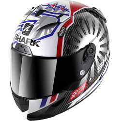 Shark Race-R Pro Carbon Replica Zarco GP France 2019 Helmet, black-white-red, Größe S