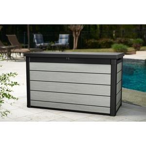 Keter Aufbewahrungsbox Denali 200 grau, 757 Liter, Kissenbox Gartenbox Auflagen