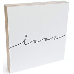 Wall-Art Holzbild Tischdeko Love Holzdeko, (1 Stück)