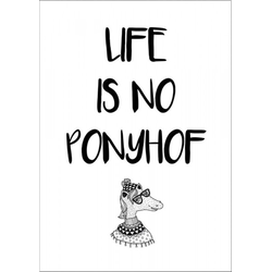 Decopanel LIFE IS NO PONYHOF