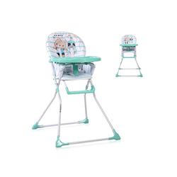 Lorelli Hochstuhl Kinderhochstuhl Cookie Bechervertiefung, abwaschbarer Stoff, klappbar grün