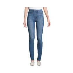 High Waist Jeggings, Damen, Größe: 42 32 Normal, Blau, Elasthan, by Lands' End, Holunderblau - 42 32 - Holunderblau